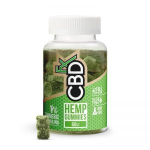CBDfx Hemp Gummy Bears Antioxidant w/ Turmeric & Spirulina – Bottle of 60